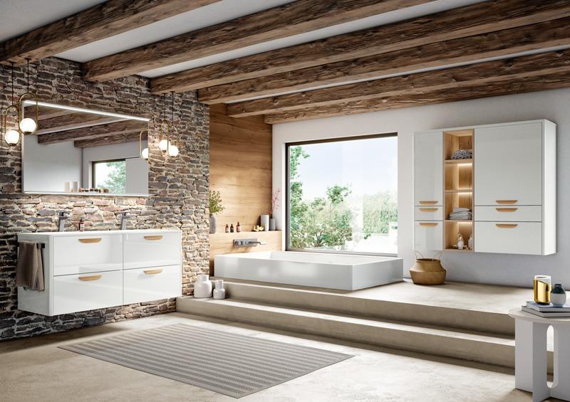 salle de bain bois blanc